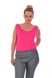 PRE ORDER: Simple But Stylish Scalloped Edge Cami - Cerise