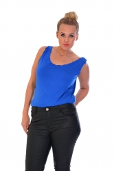PRE ORDER: Simple But Stylish Scalloped Edge Cami - Royal Blue