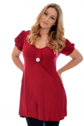 PRE ORDER: Darling Diamonte Stud Tunic Top - Wine