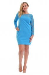 PRE ORDER: Chic Short Asymmetric Lace Shoulder Dress - Turquoise