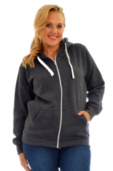 PRE ORDER: **Essential** Warm Plus Size Hoodie - Charcoal