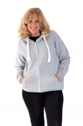 PRE ORDER: **Essential** Warm Plus Size Hoodie - Grey