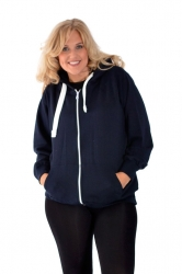 PRE ORDER: **Essential** Warm Plus Size Hoodie - Navy Blue