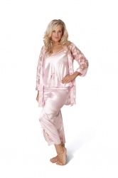 PRE ORDER: 3 in 1 Satin Nightsuit - Baby Pink