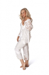 PRE ORDER: 3 in 1 Satin Nightsuit - Ivory