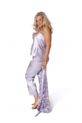 PRE ORDER: 3 in 1 Satin Nightsuit - Lilac