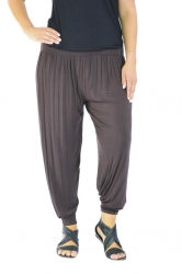 PRE ORDER: Full Length Harem Pants - Brown