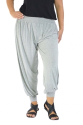 PRE ORDER: Full Length Harem Pants - Grey