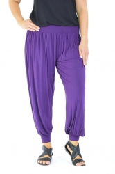 PRE ORDER: Full Length Harem Pants - Purple