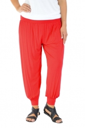 PRE ORDER: Full Length Harem Pants - Red