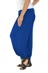 PRE ORDER: Full Length Harem Pants - Royal Blue