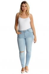 PRE ORDER: Straight Leg Ripped Jeans - Blue