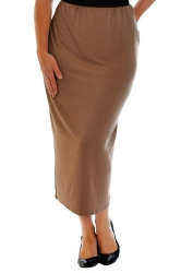 PRE ORDER: Plain Full Length Pencil Skirt - Mocha