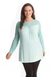 PRE ORDER: Floral Sweetheart Tunic - Mint
