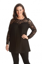 PRE ORDER: Floral Sweetheart Tunic - Black