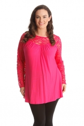 PRE ORDER: Floral Sweetheart Tunic - Cerise