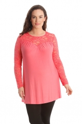PRE ORDER: Floral Sweetheart Tunic - Coral