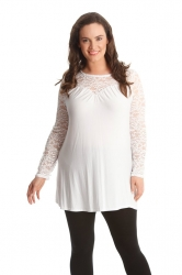 PRE ORDER: Floral Sweetheart Tunic - White