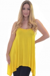 PRE ORDER: Thin Strap Plain Tank Top - Lemon