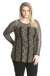 PRE ORDER: Frill Lace Top - Gold
