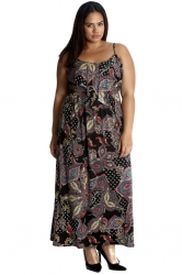 PRE ORDER: Pretty Paisley Print Tank Top Maxi Dress
