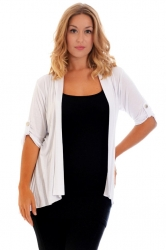 PRE ORDER: Versatile Open Waterfall Tab Sleeve Cardigan - Cream