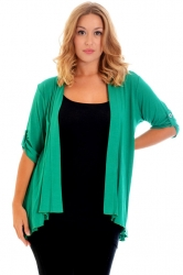 PRE ORDER: Versatile Open Waterfall Tab Sleeve Cardigan - Green