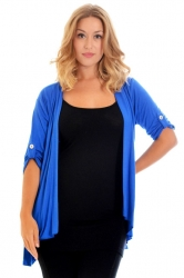 PRE ORDER: Versatile Open Waterfall Tab Sleeve Cardigan - Royal