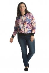 PRE ORDER: Cute Casual Plus Size Bomber Jacket - Hawaii Dreaming
