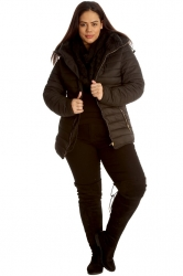 PRE ORDER: On-Trend Quilted Padded Jacket with Hood - Black