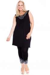 PRE ORDER: Stylish Studded Boho Chic Cami Tunic - Black