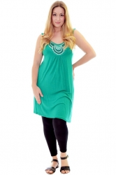 PRE ORDER: Stylish Studded Boho Chic Cami Tunic - Green