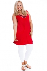 PRE ORDER: Stylish Studded Boho Chic Cami Tunic - Red