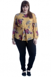 PRE ORDER: Front Tie Top - Yellow Floral Print