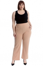 PRE ORDER: Lovely High Waist Trousers with Side Pockets - Tan