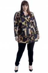 PRE ORDER: Lovely Filigree Swirls Blazer - Black
