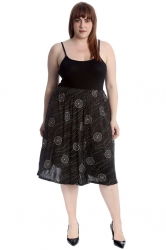 PRE ORDER: Stunning Abstract Circles Skater Skirt - Black