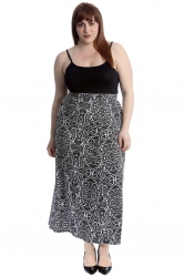 PRE ORDER: Classic Mid-Calf Skirt - Paisley Floral Print