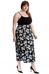 PRE ORDER: Classic Mid-Calf Skirt - Floral Print