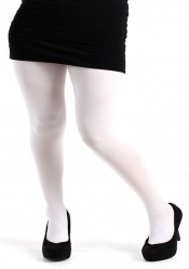 PRE ORDER: 80 Denier Opaque Tights - White