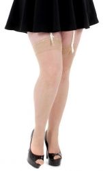 PRE ORDER: Lace Top Stockings - Natural