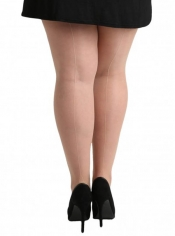 PRE ORDER: Jive Seamed Tights - Nude With Nude Seam
