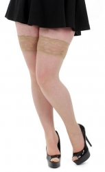 PRE ORDER: Lace Top Hold-ups - Natural