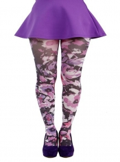PRE ORDER: Promise Printed Tights - Purple