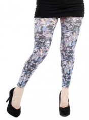 PRE ORDER: Glamour Printed Footless Tights