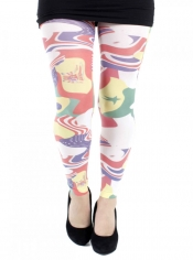 PRE ORDER: Flags Printed Footless Tights