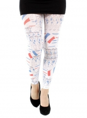 PRE ORDER: French Soldier Printed Footless Tights