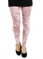 PRE ORDER: Feather Mosaic Printed Footless Tights