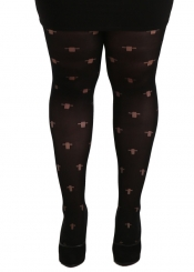PRE ORDER: Opaque Gothic Cross Tights - Black