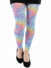 PRE ORDER: Colour Burst Printed Footless Tights